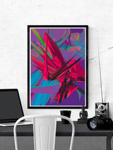 Load image into Gallery viewer, Blend 2 Glitch Art Print on a wall