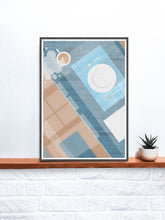 Load image into Gallery viewer, Breakfast Kitchen Print art on a shelf