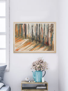Bullfrog Forest Landscape Painting in a nice room