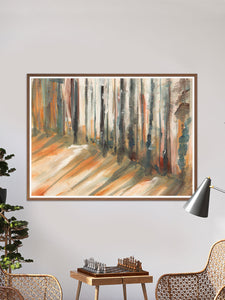 Bullfrog Forest Landscape Painting in a traditional room