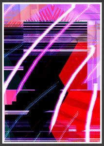 Calx Glitch Art Print in a frame