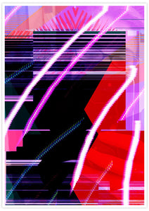 Calx Glitch Art Print not in a frame