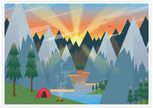 Load image into Gallery viewer, Camping Adventure Kids Art Print no frame