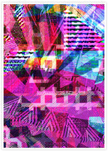 Load image into Gallery viewer, Cast Coral Glitch Art Print not in a frame