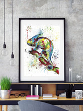Load image into Gallery viewer, Chameleon Art Poster