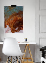 Load image into Gallery viewer, Chaos and Cloud Macro Oil Print on in a stylish bedroom