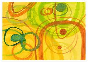 Chelle Yellow Abstract Art