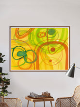 Load image into Gallery viewer, Chelle Yellow Abstract Art in a traditional room