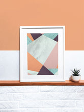 Load image into Gallery viewer, Cherry Blossom Geometric Art Print on a shelf