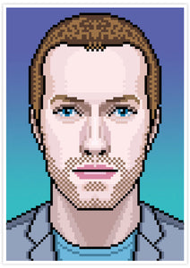 Chris Coldplay Art Print no frame