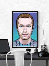 Load image into Gallery viewer, Chris Coldplay Art Print in a frame on a wall