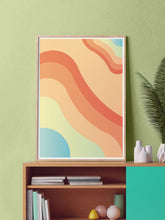 Load image into Gallery viewer, Clone Abstract Art Print in a contemporary room