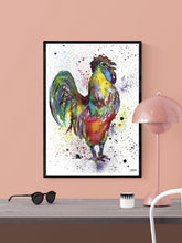 Load image into Gallery viewer, Cockerel Art Print