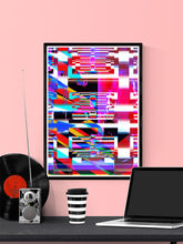 Load image into Gallery viewer, Code Glitch Art Print on a wall