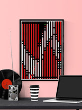 Load image into Gallery viewer, Code 2 Glitch Art Print on a wall