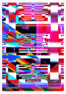 Code Glitch Art Print not in a frame