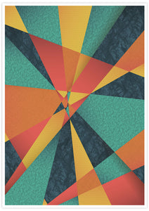 Colour Web Geometric Art Print in no frame