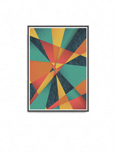 Colour Web Geometric Art Print on a wall