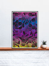 Load image into Gallery viewer, Comb Pattern Art Print on a shelf