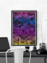 Load image into Gallery viewer, Comb Pattern Art Print on a wall