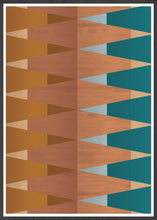 Load image into Gallery viewer, Copper Tops geometric wall art in no frame