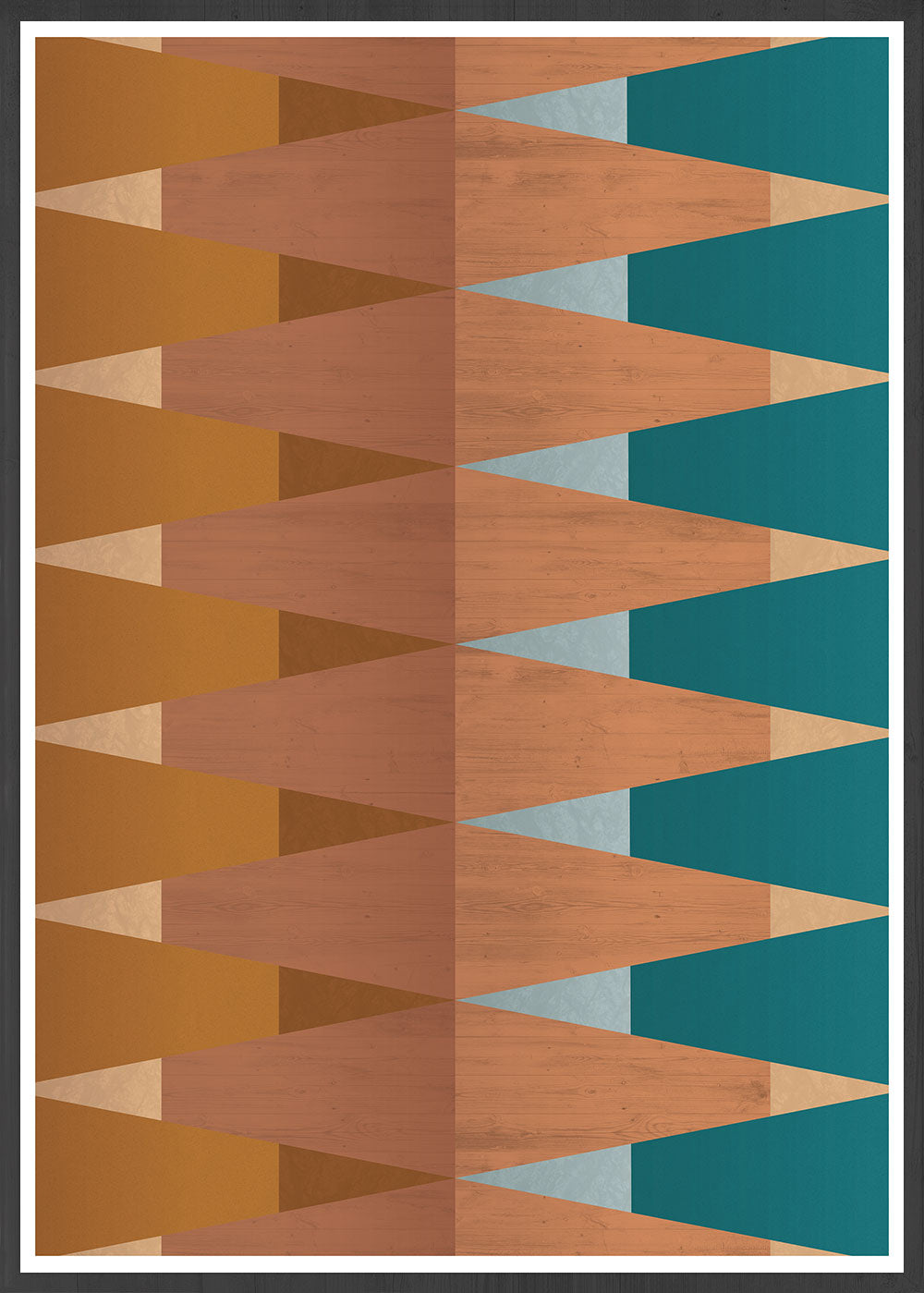 Copper Tops geometric wall art in no frame
