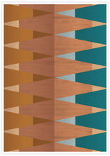 Load image into Gallery viewer, Copper Tops geometric wall art in a frame