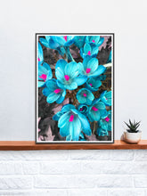 Load image into Gallery viewer, Crocus Blue Flower Art Print in a frame on a shelf
