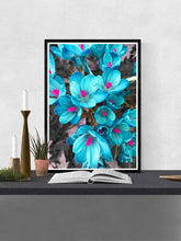 Load image into Gallery viewer, Crocus Blue Flower Art Print in a frame on a wall