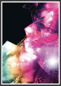 Crystal Art Print Digital Wall Art in a frame