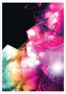 Crystal Art Print Digital Wall Art with no frame