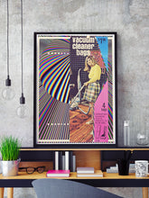 Load image into Gallery viewer, Cut and Paste Rug Retro Print in a frame on a shelf