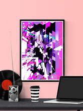 Load image into Gallery viewer, Cyber Punk Glitch Art Print