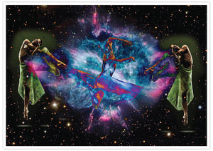 Dancing in Space Art Print not in a frame