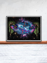 Load image into Gallery viewer, Dancing in Space Art Print on a Shelf