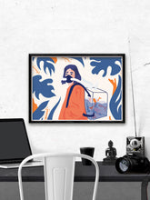 Load image into Gallery viewer, Dans Mon Espirit Tout Divague Graphic Print Above A Desk