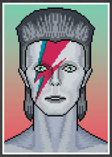 Load image into Gallery viewer, Ziggy illustration Bowie Art Print in frame