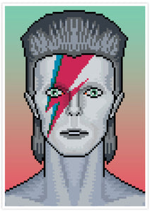 Ziggy Illustration Bowie Art Print no frame
