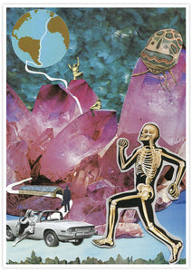 Death Valley '73 Collage Art Print no frame