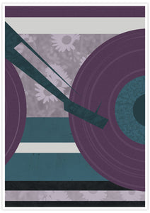 Disc Jockey Music Abstract Print with no frame