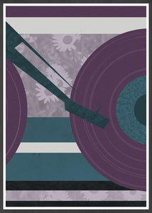 Disc Jockey Music Abstract Print in a frame