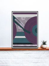 Load image into Gallery viewer, Disc Jockey Music Abstract Print on a shelf