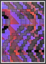 Load image into Gallery viewer, Distortion Glitch Art Print in a frame