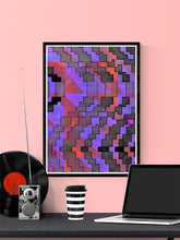 Load image into Gallery viewer, Distortion Glitch Art Print on a wall