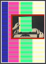 Load image into Gallery viewer, Dotted Line Matrix Retro Art Print in a frame