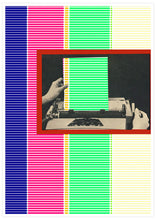 Load image into Gallery viewer, Dotted Line Matrix Retro Art Print not in a frame