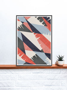 Drips art Abstract Print Pattern on a shelf