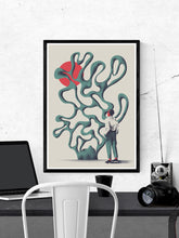 Load image into Gallery viewer, Dr Zewo Contemporary Print in a frame on a wall