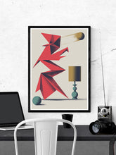 Load image into Gallery viewer, Dr Zewo 2 illustration in a frame on a wall
