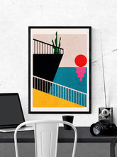 Load image into Gallery viewer, Dr Zewo 34 Contemporary Poster in a frame on a wall